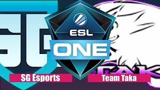 SG Esports vs Team Taka Game 1 , ESL One Hamburg 2017
