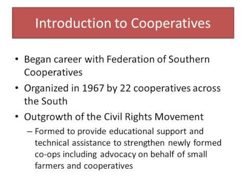 Co-ops and Black History