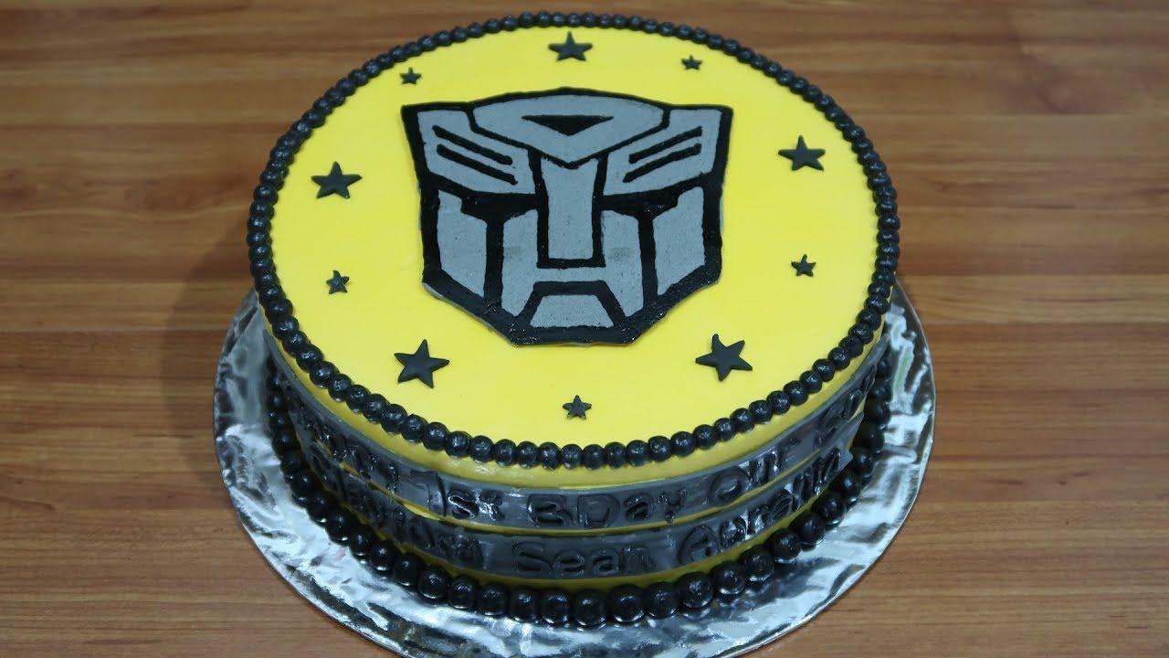 Kue Ulang Tahun Transformers Cake By Buttercream Youtube