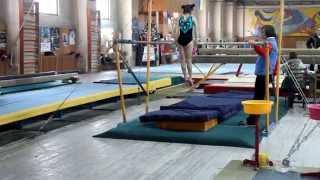 Спортивна гімнастика, 2 юнацький розряд Лещак Аня 2007 р.н. (бруси)