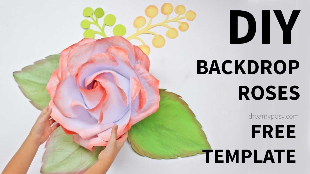 Free Template How To Make Large Giant Paper Rose