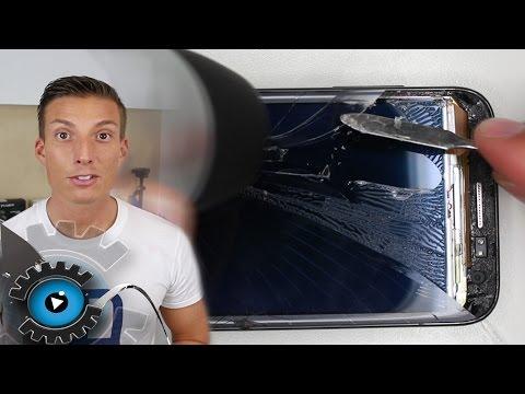 Samsung Galaxy Ativ S Glas Tauschen Wechseln unter 20€ Reparieren [Deutsch/German] Disassembly