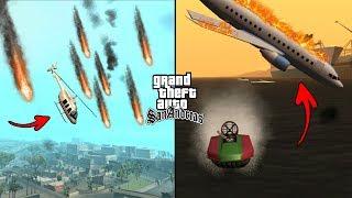 Falling Meteors in GTA San Andreas! (Natural Disaster)