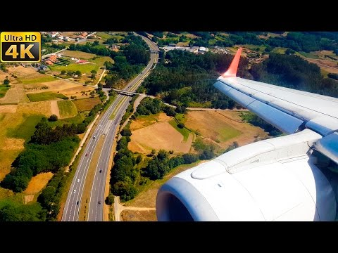Landing A Coruña | FULL VISUAL APPROACH! | AIR EUROPA E195