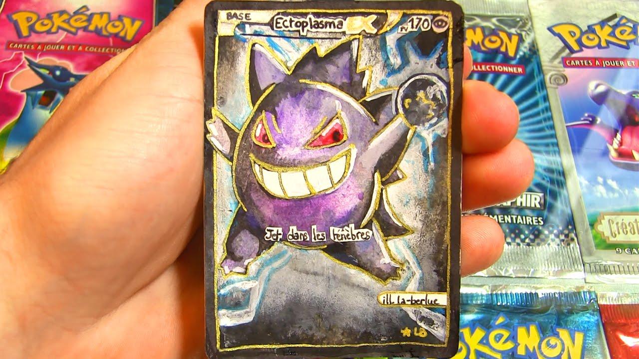 carte pokemon ex pas cher du tout CARTE POKEMON FAITE MAIN #4 EX et STAR SUBLIME !   YouTube