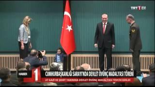 Cumhurbaşkanlığı Sarayı'nda Devlet Övünç Madalyası Tevcih Töreni