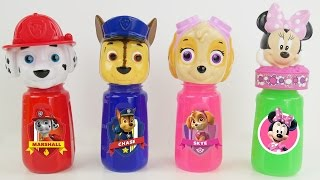 paw patrol slime bowling pins bottles learn colors toy surprises best kid learning video toys