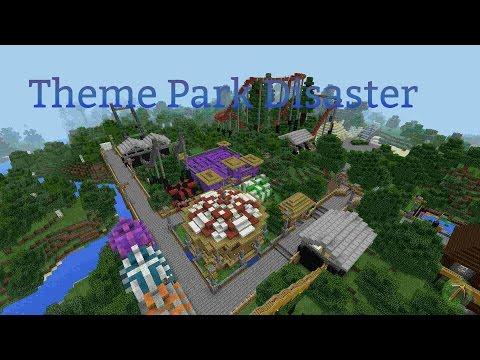 MCPE- ROLLER COASTER MADNESS- TOURQE AP MOBILE Theme Park