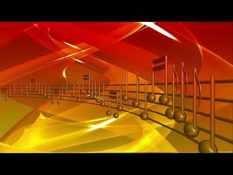 Sound Music Notes Motion Background - Copyright Free Stock Footage Clip