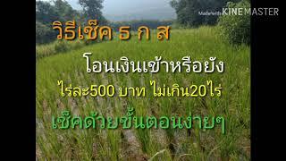 วิธีเช็ค ธ ก ส โอนเงินเข้า ไร่ละ500 ด้วยขั้นตอนง่ายๆ