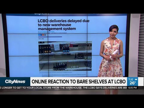 Online Reaction To Bare Shelves At LCBO