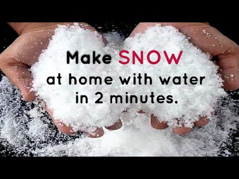 How To Make Fake Snow At Home In Less Than 2 Minutes | 100% Non-Toxic | Fake Snow | Artificial Snow