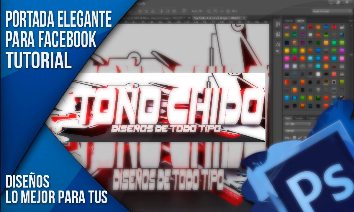 Portadas para Facebook photoshop cs6. - YouTube