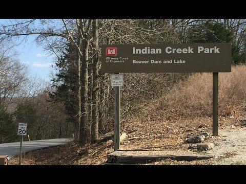 Indian Creek Campground near Eureka Springs Arkansas Beaver Lake Tour on CRF250L