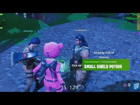 The Sharing Is Caring Pink Bear! Fortnite Trolling