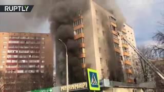 Пожар произошёл в доме на северо-востоке Москвы, два человека погибли
