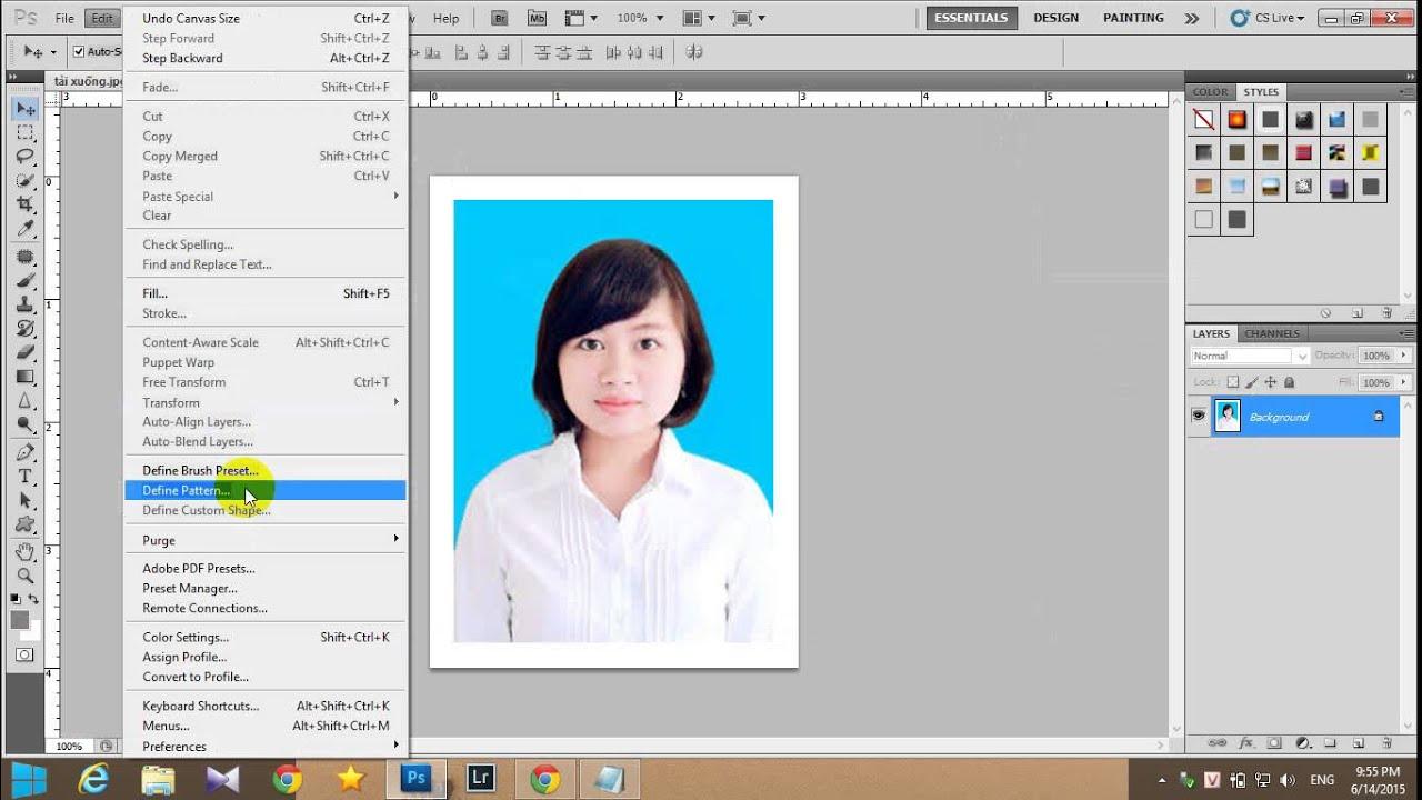 Hướng dẫn làm ảnh 3x4 và 4x6 bằng photoshop