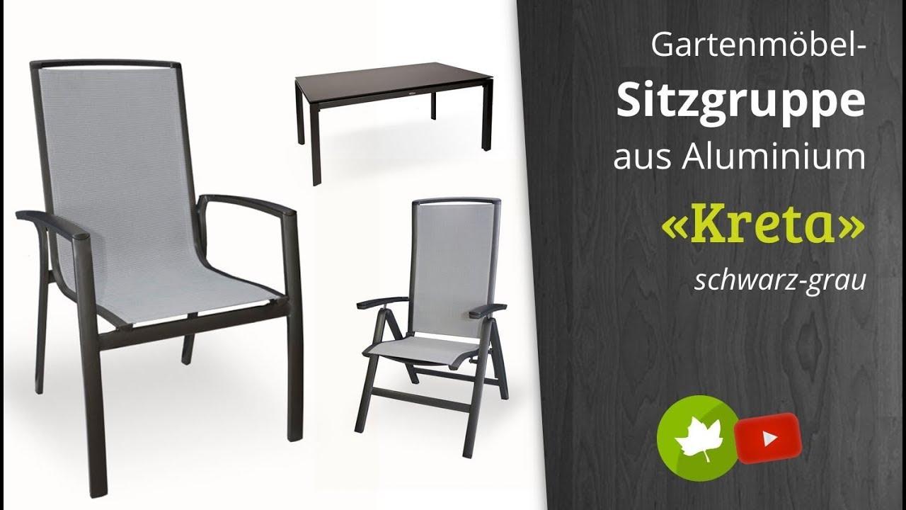 Holz Haus   Diamond Garden Aluminium Gartenmöbel Gruppe Kreta Stapelstuhl  Hochlehner, Hocker, Tisch