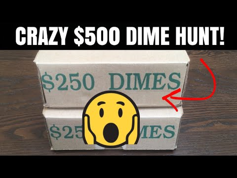 So Much Silver!  Coin Roll Hunting $500 In Dimes