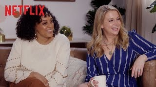 90s Teen Stars Turned TV Moms ft. Tia Mowry, Melissa Joan Hart & Jodie Sweetin | Netflix
