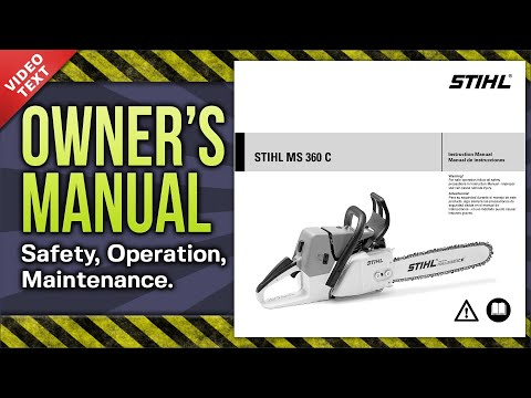 Owner's Manual: STIHL MS 360 C Chain Saw