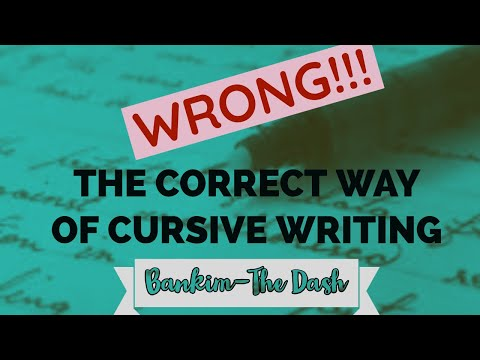 Best Way Of Learning Cursive Writing