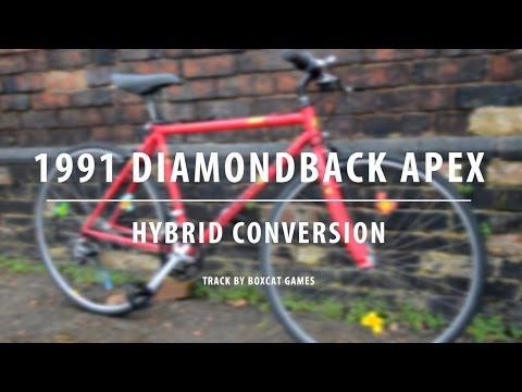 1991 DiamondBack Apex - Building A Retro Hybrid - Bicycle Build