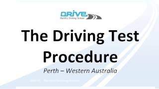 The Driving Test in Perth