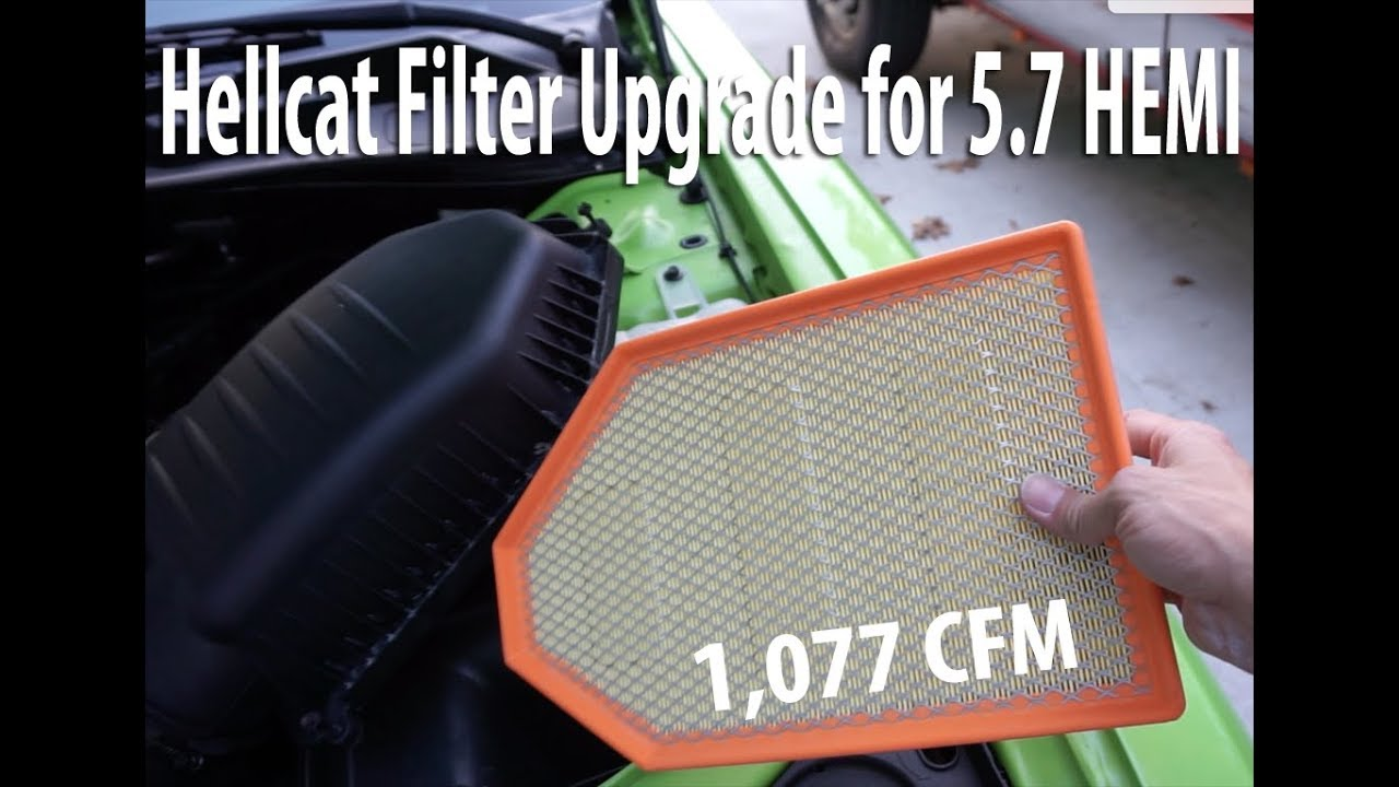 Hellcat Air Filter In 5 7 Hemi Challenger 2015 2016 2017 Youtube