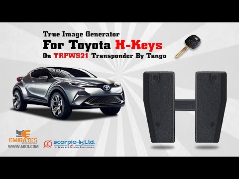 HOW TO GENERATE TOYOTA H TRANSPONDER BY TANGO