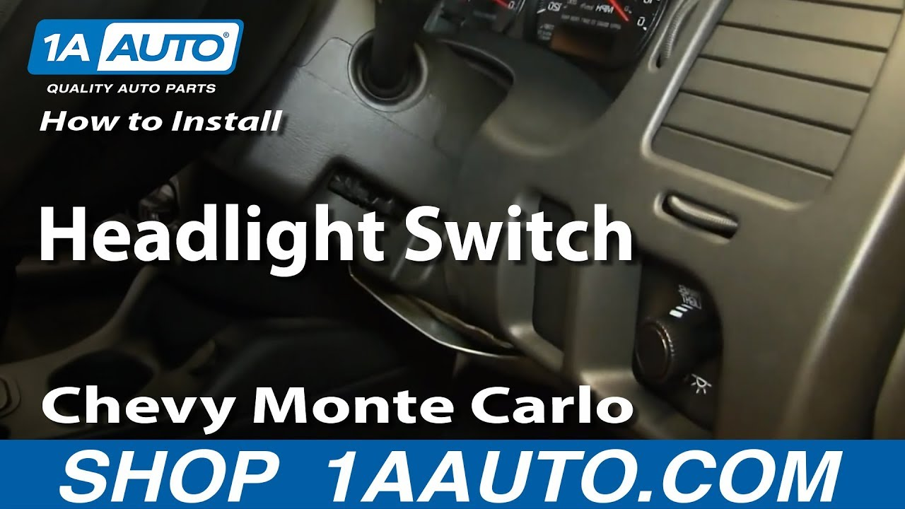 how to install replace headlight switch 2000 05 chevy monte carlo [ 1280 x 720 Pixel ]