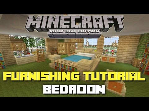 Minecraft Xbox 360: House Furnishing Tutorial! (Bedroom)