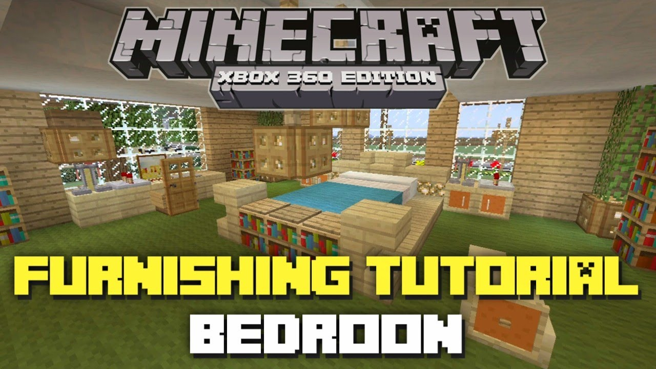 Minecraft xbox 360 house furnishing tutorial bedroom for Minecraft bedroom ideas xbox 360