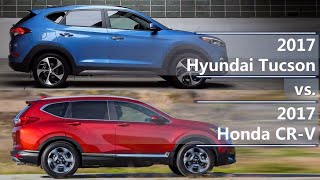 2017 Hyundai Tucson vs 2017 Honda CR-V (technical comparison)