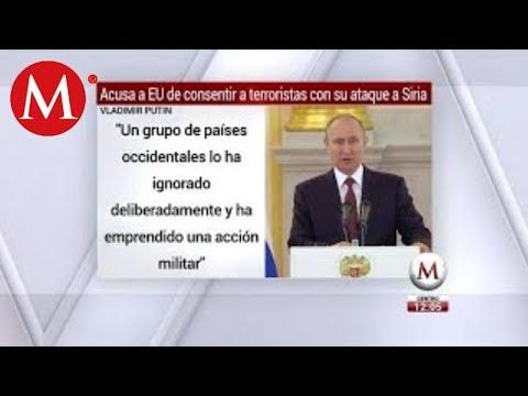 Vladimir Putin condena el ataque de EU a Siria