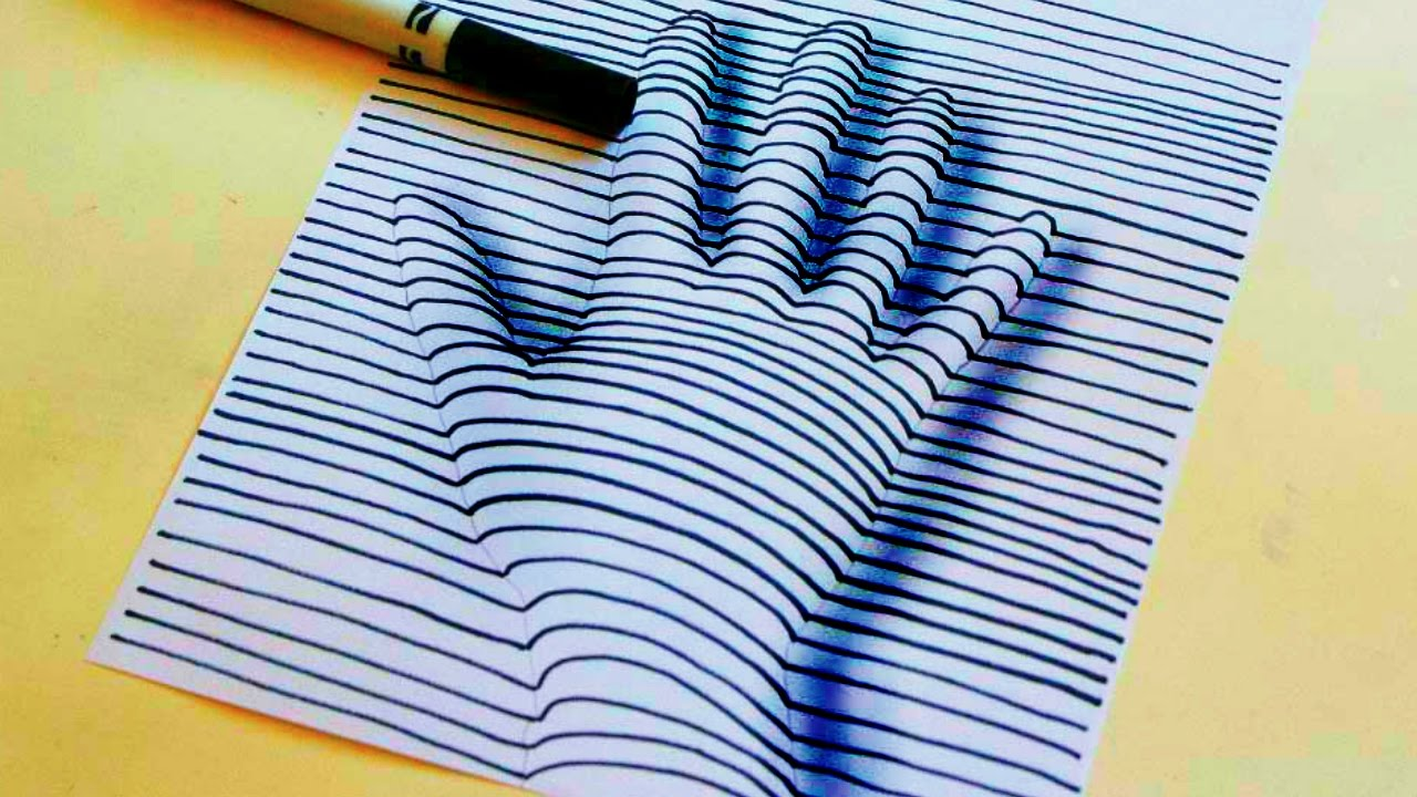 3d Line Drawing Hand : D hand drawing on paper pixshark images