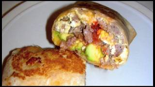 Sausage Breakfast Burrito Recipe With Fresh Avocado And Salsa
