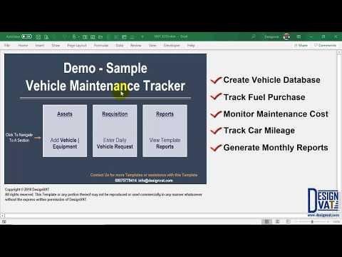 Fleet Management Spreadsheet Vehicle Maintenance Schedule