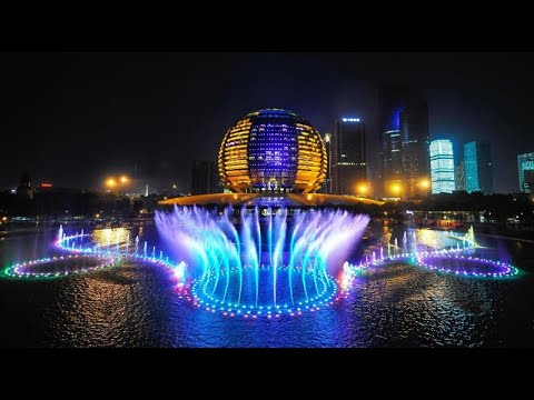 our fountain project for G20 summit 2016,china-3D digital dancing water fountain