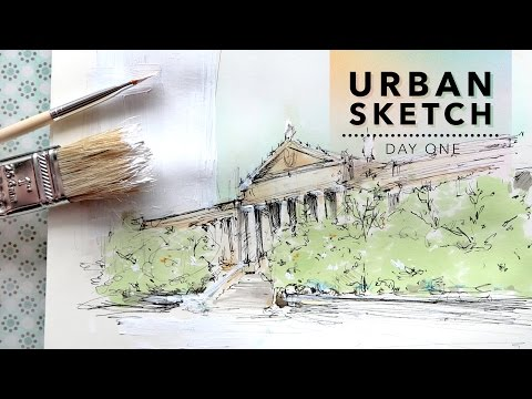 Urban Sketch: Day One // Breaking The Ice