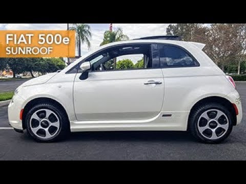 2014 Fiat 500e Sunroof View Inventory Youtube