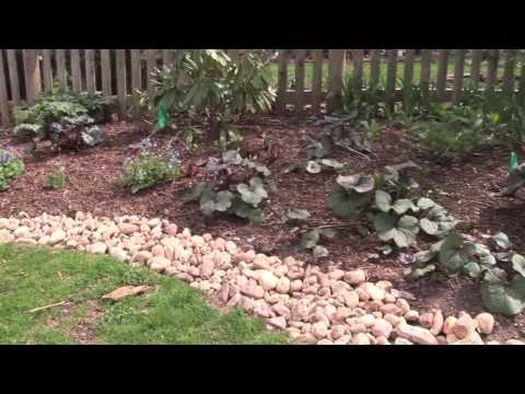 Edging Gardens with River Stones