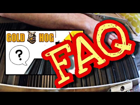 FAQ tapis gold hog tuto sur le montage et expliquation orpaillage france