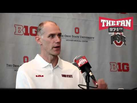 Ohio State Assistant Chris Jent 4-27-16