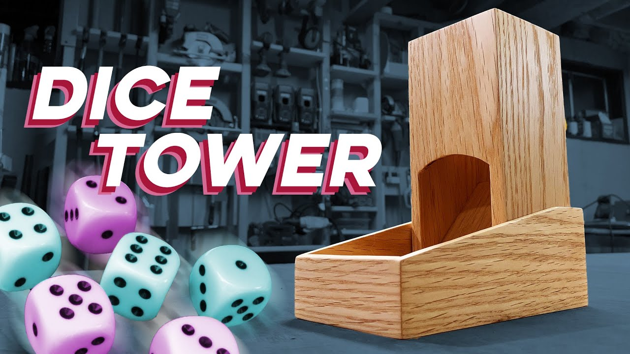 Making a Dice Tower // Red Oak from the Attic