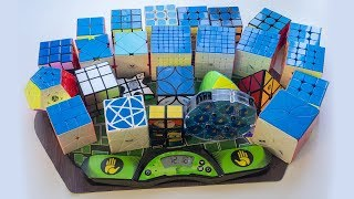 Моя коллекция головоломок. Все мои кубики Рубика