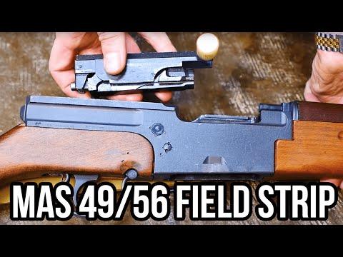 MAS 49/56 Semi-Automatic Rifle Field Strip - YouTube