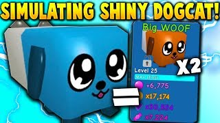 Simulating the SHINY DOGCAT PET! (*EXACT STATS!*) - Roblox Bubble Gum Simulator