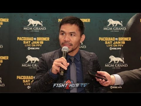 MANNY PACQUIAO'S FULL LOS ANGELES MEDIA ROUNDTABLE - PACQUIAO VS BRONER