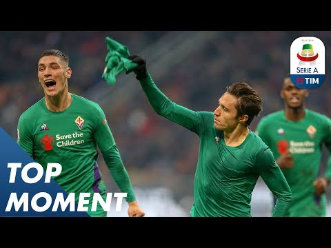 Chiesa Scores Winning Solo Goal!   Milan 0-1 Fiorentina   Top Moments   Serie A